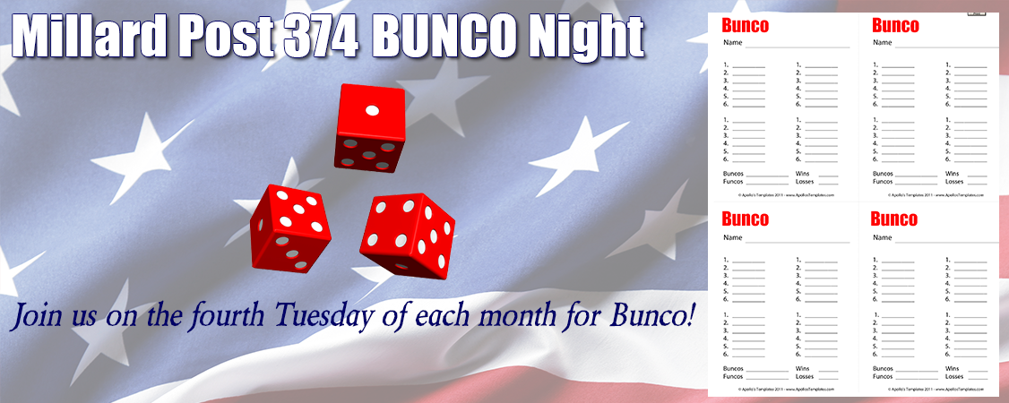 Join us for Bunco