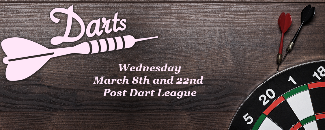 Dart league starting Wednesdays in October - sign up at bar